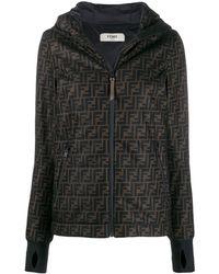 Fendi Brown Polyester Outerwear Jacket