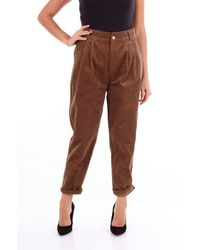 Molly Bracken Cotton Trousers - Brown