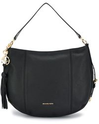 Michael Kors Brooke Black Leather Large Hobo Bag