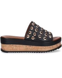 Inuovo Black Leather Sandals