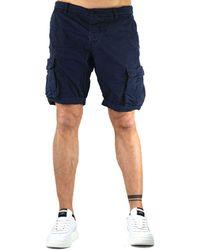 40weft Blue Cotton Shorts