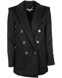 Michael Kors Black Wool Coat