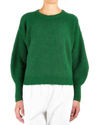 8pm - Green Viscose Sweater - Lyst