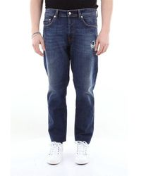 Love Moschino 5-pocket Jeans With Destroyed - Blue