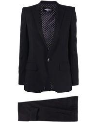 DSquared² Cropped Trouser Suit - Black