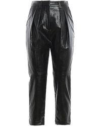 Michael Kors Polyurethane Trousers - Black