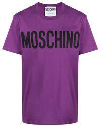 Moschino T-Shirt mit Logo-Print - Lila