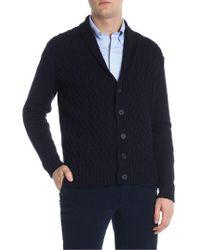 Paolo Pecora Blue Wool Cardigan
