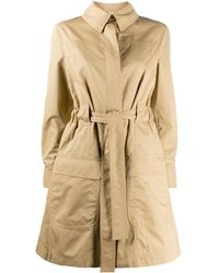 Moschino Cotton Trench Coat - Natural