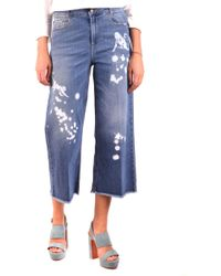RED Valentino Blue Cotton Jeans
