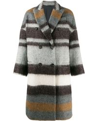 Brunello Cucinelli - Multicolor Wool Coat - Lyst