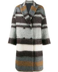 Brunello Cucinelli Multicolour Wool Coat
