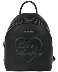 Love Moschino Polyurethane Backpack - Black