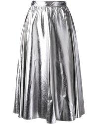 MSGM A-line Midi Skirt - Metallic