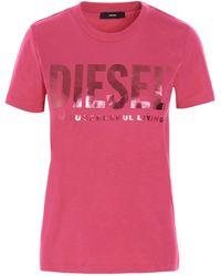 DIESEL ANDERE MATERIALIEN T-SHIRT - Pink