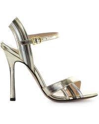 Marc Ellis Laminated Leather Sandal - Metallic