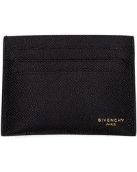 Givenchy Black Leather Card Holder