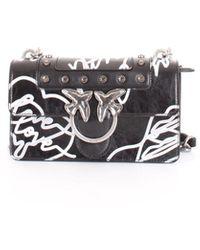 Pinko Black Leather Shoulder Bag