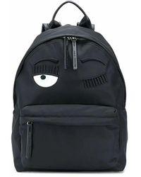 Chiara Ferragni Cfz076 Leather Backpack - Black