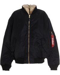 Vetements Wah21ja0011307 Polyamide Outerwear Jacket - Black