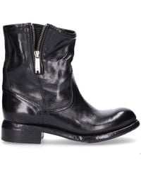 LEMARGO - Black Leather Ankle Boots - Lyst