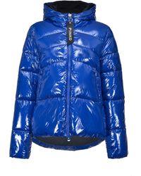 Pinko Blue Polyamide Down Jacket