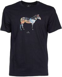 Paul Smith Blue Cotton T-shirt