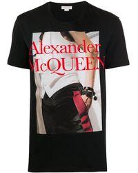 Alexander McQueen T-SHIRT STAMPATA - Multicolore