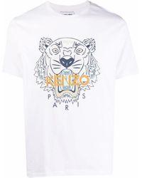 KENZO T-Shirt mit Tiger-Motiv - Weiß