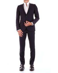 Fradi Blue Wool Suit