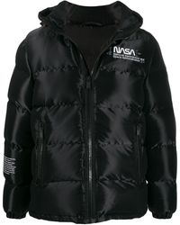 Heron Preston Nasa Puffer Jacket - Black
