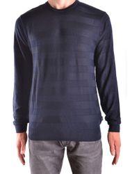 Armani Jeans - Blue Wool Sweater - Lyst