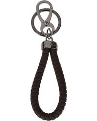 Tod's Brown Leather Key Chain