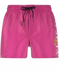 Versace FUCHSIA POLYESTER TRUNKS - Pink