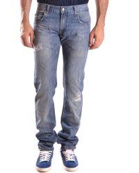 CoSTUME NATIONAL Men's Mcbi074068o Blue Cotton Jeans