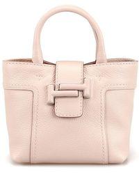 Tod's Pink Leather Handbag