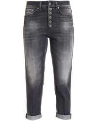 Dondup ANDERE MATERIALIEN JEANS - Grau