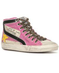 Golden Goose Slide High-Top-Sneakers - Lila