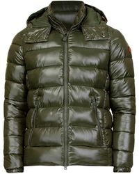Save The Duck Green Polyester Down Jacket