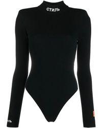 Heron Preston Logo-patch Long-sleeve Body - Black