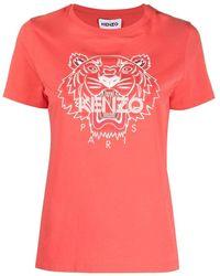 KENZO Cotton T-shirt - Red