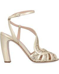 Miu Miu Women's 5x882cf1003l4zf0846 Gold Sandals - Metallic