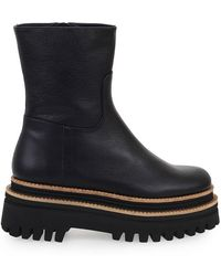 Paloma Barceló Alanya Leather Ankle Boots - Black