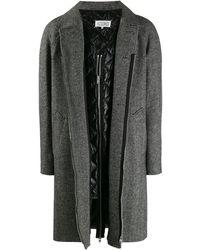 Maison Margiela Multicolour Wool Coat - Gray