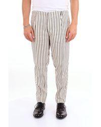 Michael Coal White Linen Pants