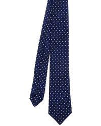 Kiton Silk Tie - Blue