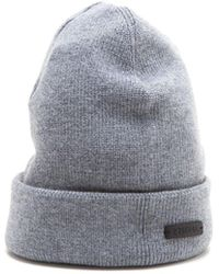 Z Zegna Grey Wool Hat - Gray