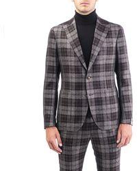 Tagliatore Brown Wool Blazer