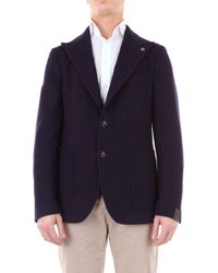 Tagliatore Blue Wool Blazer