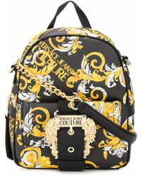 Versace Jeans Couture Polyurethane Backpack - Black